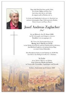 Zaglacher Josef